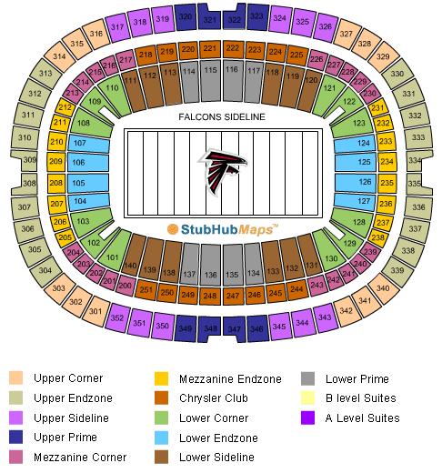 Mercerdes Benz Stadium Seating Chart New Falcons Otbparlor